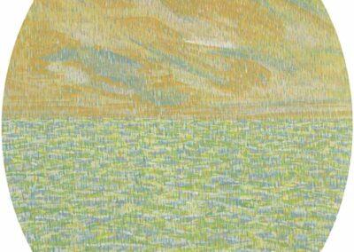 Ovale (Pioggia), dipinto di Carlo Battaglia.